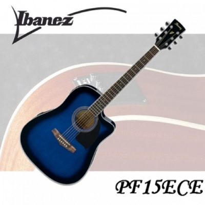 Ibanez PF15ECE 電木吉他/專業規格/絕佳音質/公司貨保固/藍色
