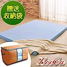 (贈收納袋)LooCa 空調睡眠8cm減壓記憶床墊-加大(搭贈3M吸濕排汗布套)