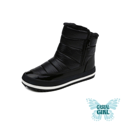 Casual Girl「SNOW」保暖太空雪靴 (黑色)