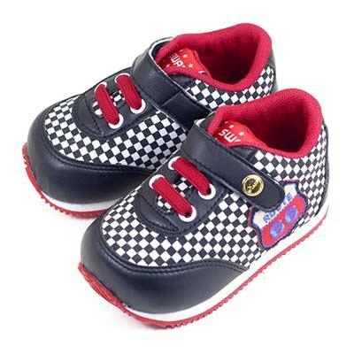 Swan天鵝童鞋--賽車小童機能學步鞋 1567-黑