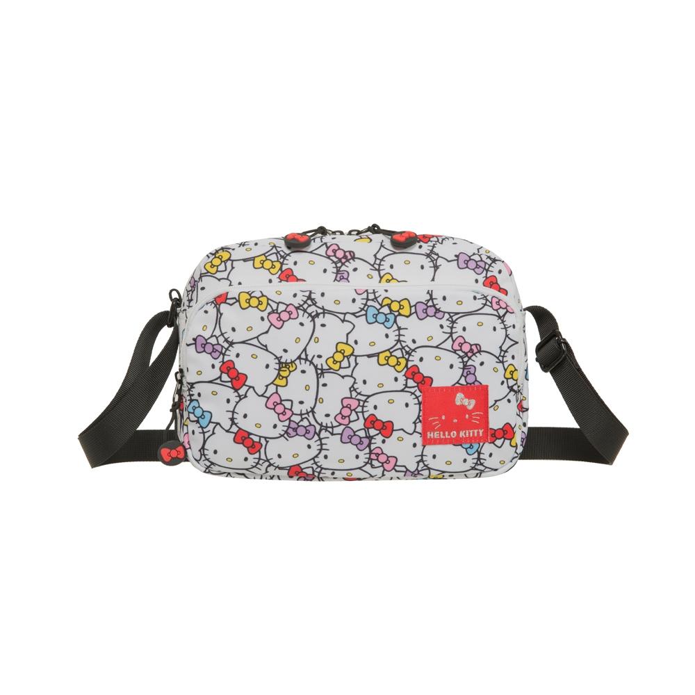 【Hello Kitty】繽紛凱蒂-側背包-白 KT01V02WT