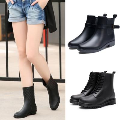 韓國KW美鞋館-(預購)簡約百搭個性時尚雨鞋雨靴(3款可選)