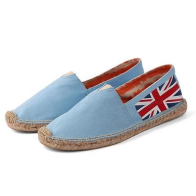韓國KW美鞋館 (現貨+預購) 藍國旗款草編休閒帆布鞋-藍