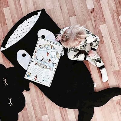 【兒童標準版-小殺人鯨】BabyBites西班牙鯊魚咬一口多功能睡袋
