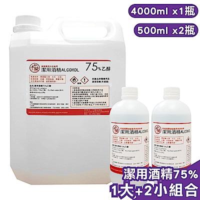 千櫻 潔用酒精75%(4000ml+500ml)-1大+2小組合