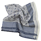 LV M71382 經典花紋羊毛披肩大方巾(軍藍色)