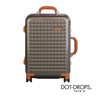 DOT-DROPS 20 吋 Chapter 4 時尚點點鋁框硬殼行李箱 - 香檳金