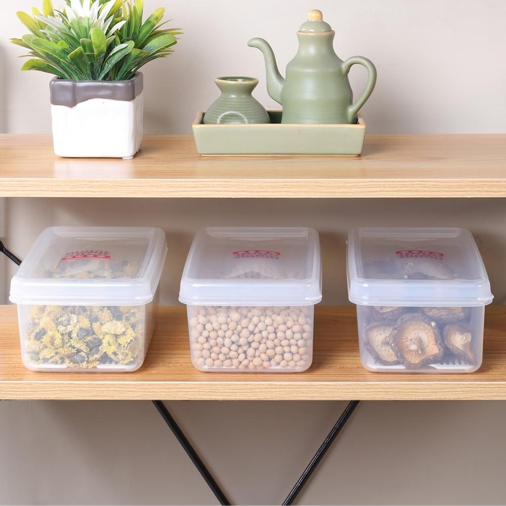 創意達人艾樂長型保鮮盒1.5L-6入組