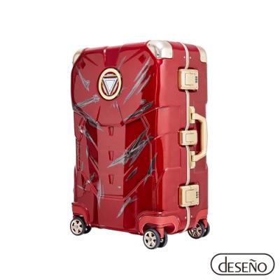 Marvel 漫威年度限量復仇者24吋鋁框行李箱鋼鐵人戰損版II-印度紅