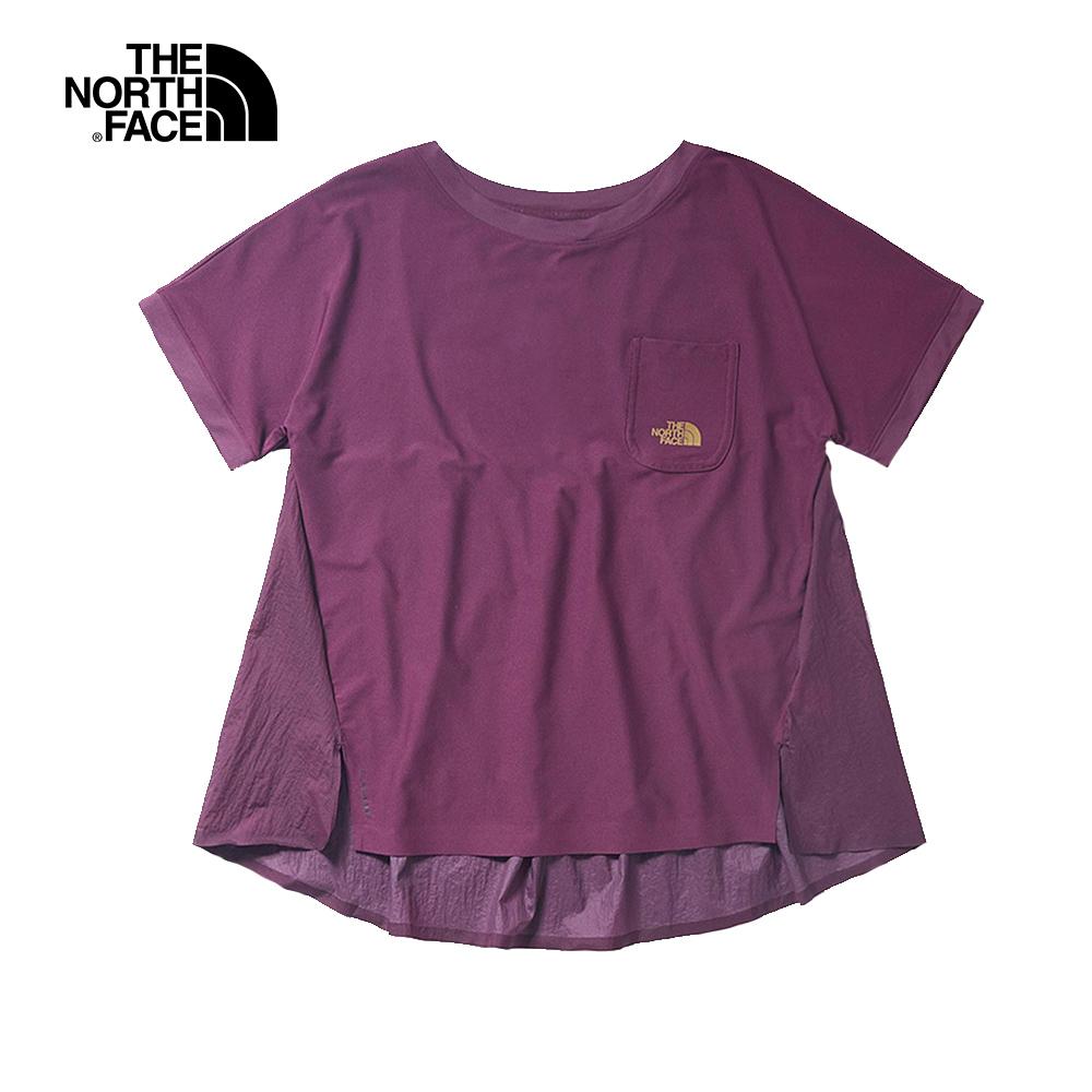 The North Face北面女款紫紅色吸濕排汗T恤|3V523YE