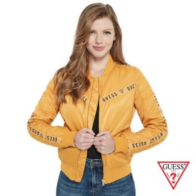 GUESS-女裝-經典LOGO側邊線條飛行外套-黃 原價3990