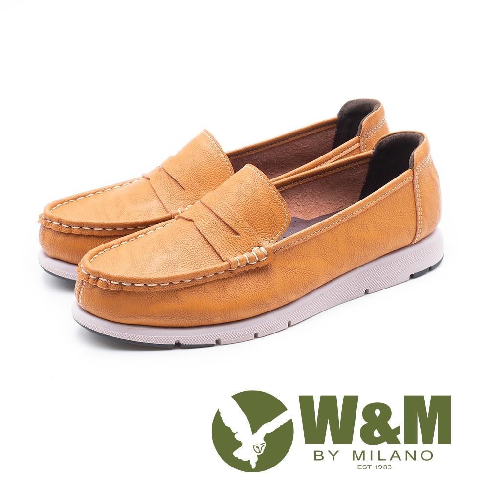 W&M 縫線裝飾休閒樂福鞋 女鞋 - 棕(另有黑)