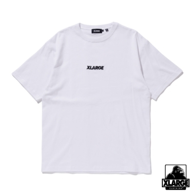 XLARGE S/S TEE EMBROIDERY STANDARD LOGO 刺繡LOGO短T-白