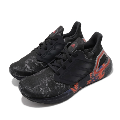 adidas 慢跑鞋 UltraBOOST 20 CNY 女鞋 海外限定 愛迪達 三葉草 襪套式 緩震 黑 紅 FW5677