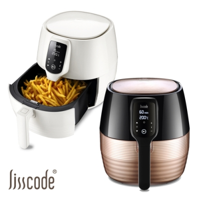 【Lisscode】4.5公升大容量 數位觸控健康氣炸鍋 (贈矽膠手套+醬料刷)