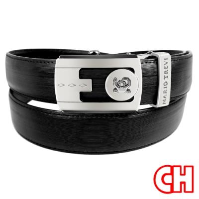 CH-BELT功能設計自動扣紳士休閒皮帶腰帶(黑)