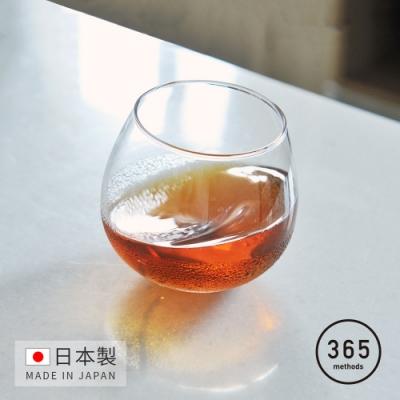 日本365methods 日製晚酌微醺搖曳玻璃杯-320ml  (不倒翁杯)