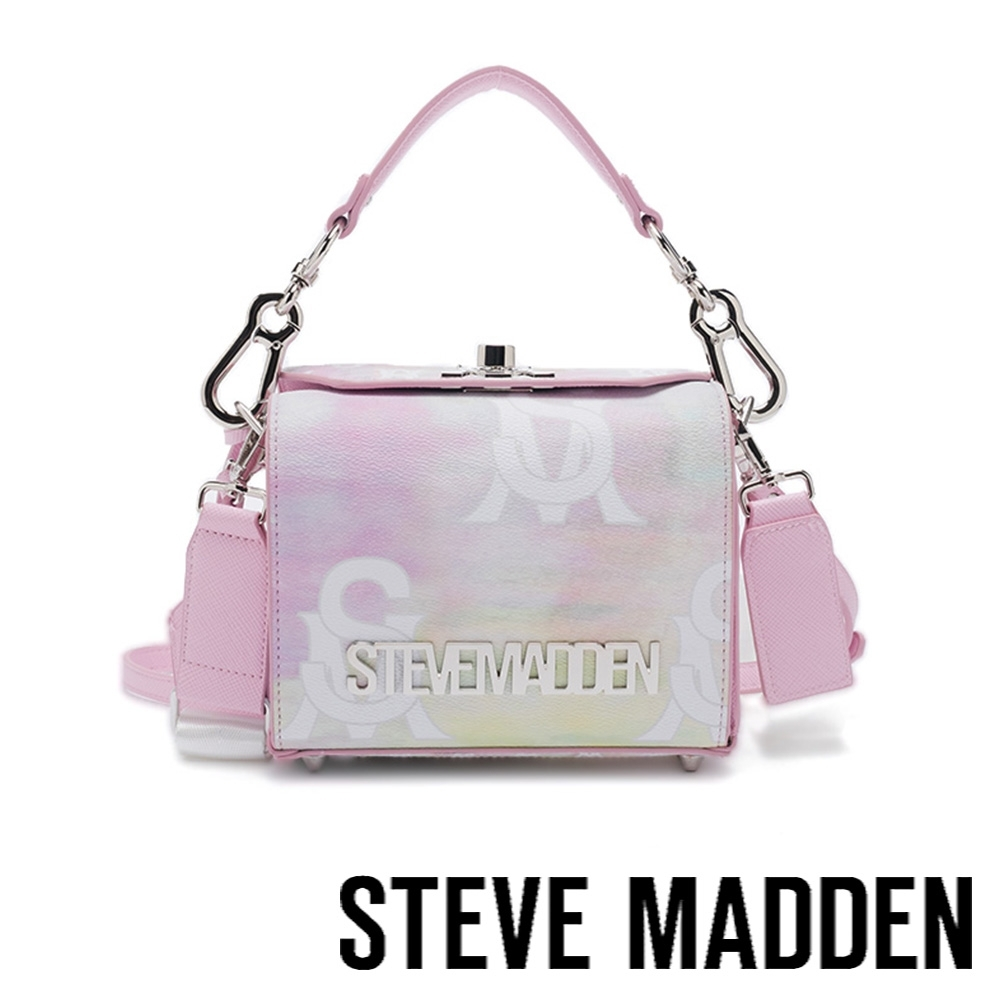 STEVE MADDEN-BKROME 炫彩粉手提肩背兩用相機包-粉色