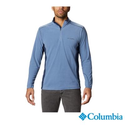 Columbia 哥倫比亞 男款 - Omni Shade 防曬50半開襟刷毛上衣-墨藍UEE65030IB