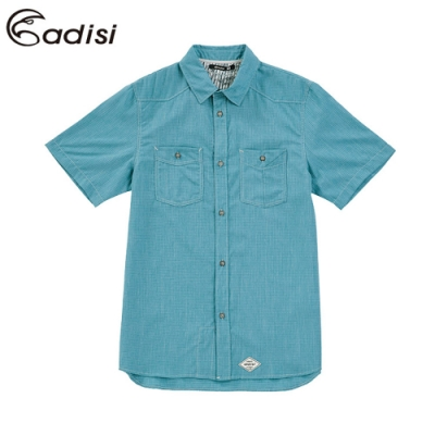 ADISI 男短袖休閒麻感超透氣外穿式襯衫AL1911040