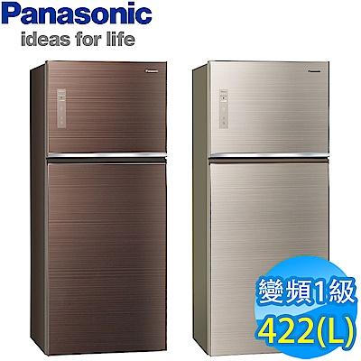 [館長推薦] Panasonic國際牌 422L 1級變頻2門電冰箱 NR-B429TG