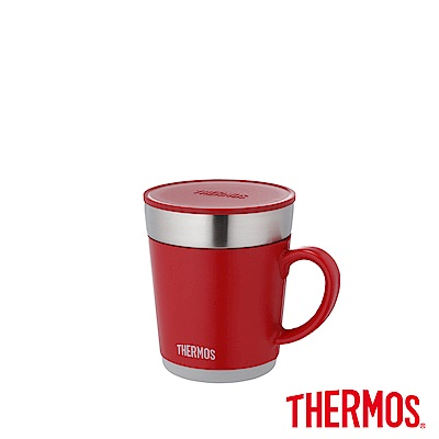 THERMOS膳魔師不鏽鋼真空保溫杯0.35L(JDC-350-RD)