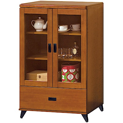 綠活居 克多朗時尚2.7尺美型實木展示櫃/收納櫃-80x40x121.5cm免組