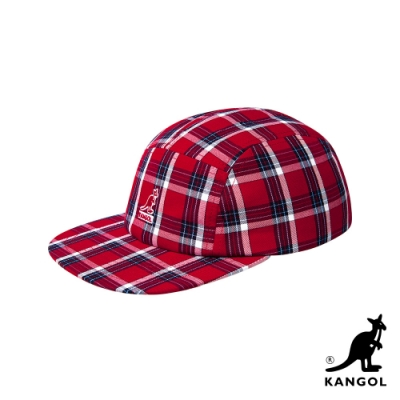 KANGOL-5 PANEL 格紋棒球帽-紅色