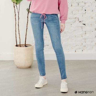 Hang Ten-女裝-SUPER SKINNY FIT超緊身低腰丹寧褲-淺藍色