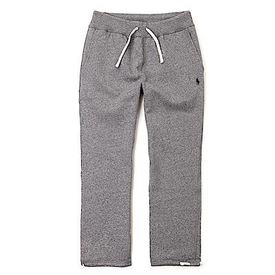 Polo Ralph Lauren 經典刺繡標誌束口長棉褲-麻花深灰色