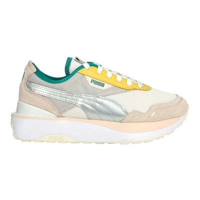 PUMA CRUISE RIDER OQ 女休閒運動鞋-麂皮 經典 37507301 奶茶黃綠銀