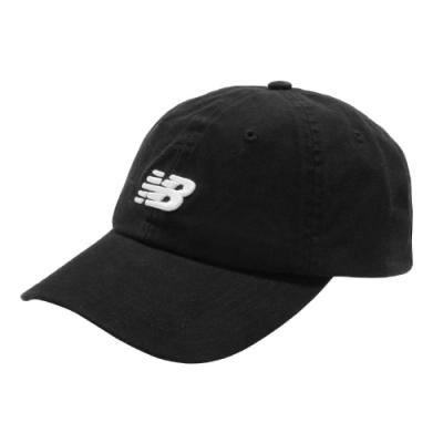 New Balance 老帽 Logo Baseball Cap 男女款 紐巴倫 基本款 運動休閒 遮陽 穿搭 黑 白 LAH91014BK