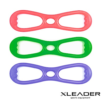 Leader X 8字彈力帶 擴胸拉力帶 2入組