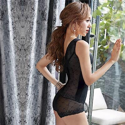曼黛瑪璉 魔幻美型重機能-高腰三角束褲(黑)