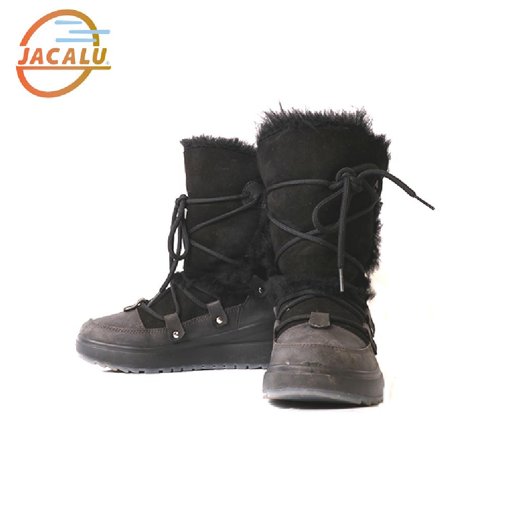 Jacalu 高筒麂皮雪靴6329.4/J 黑色
