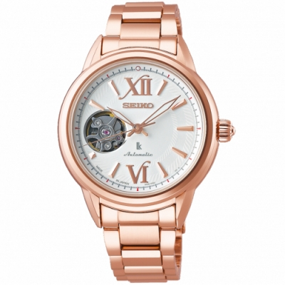 SEIKO精工 LUKIA廣告款鏤空機芯機械女錶(SSA794J1)