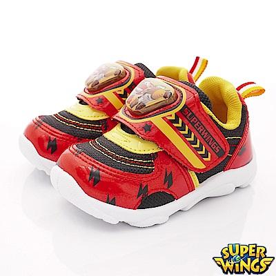 SUPER WINGS 炫亮電燈運動鞋款 EI3045紅(中小童段)