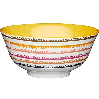 《KitchenCraft》陶製餐碗(點線彩)