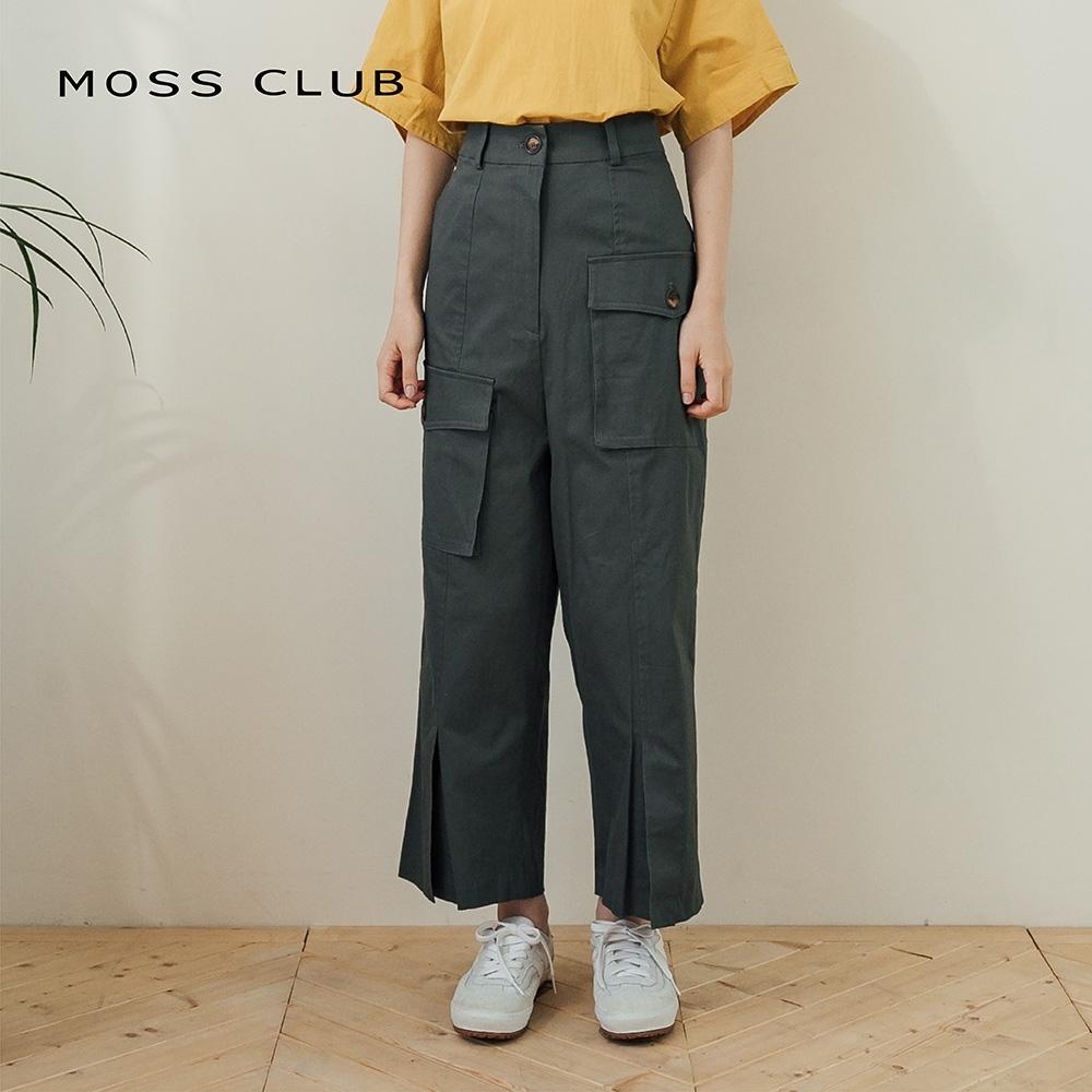 【MOSS CLUB】日系寬襬休閒-長褲(二色)