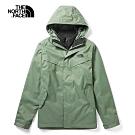 The North Face北面男款綠色防水透氣戶外三合一外套|46JL4NX