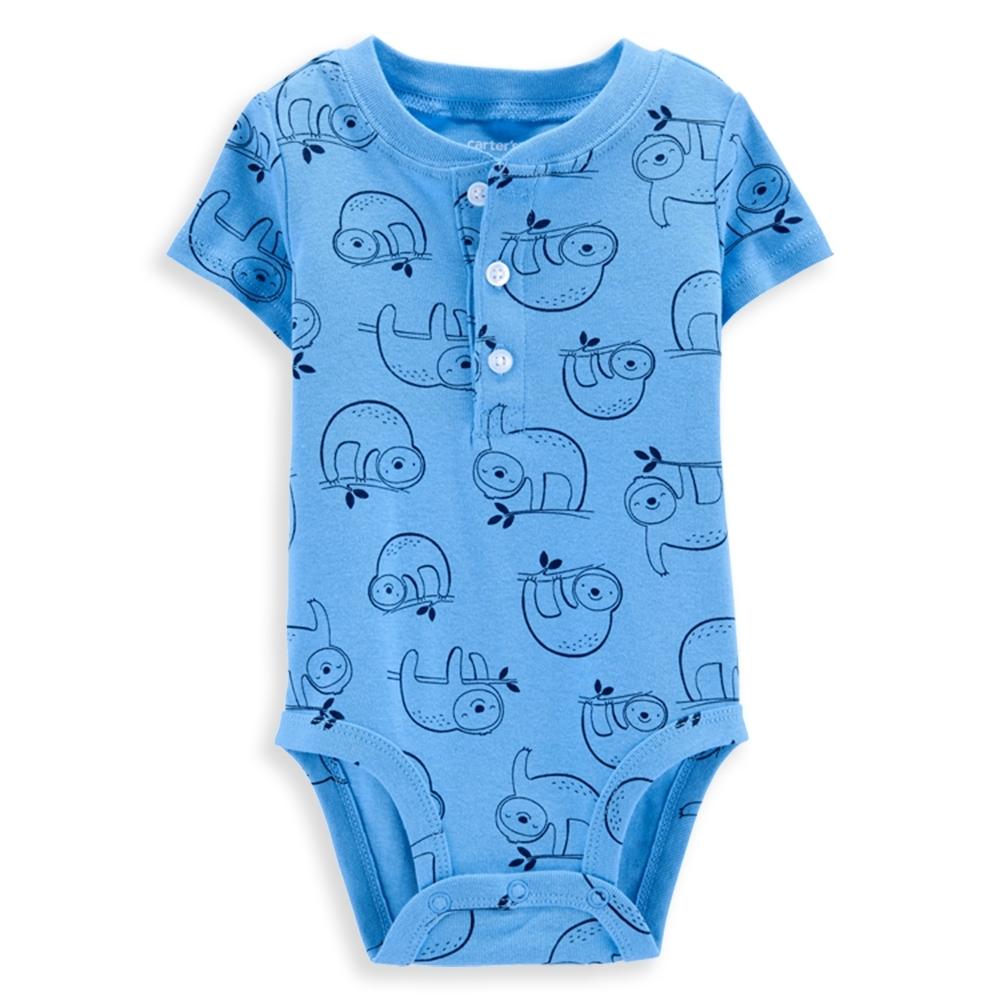 【Carter's】 樹懶體操淺藍包屁衣(6M-24M) 任選 (台灣總代理)