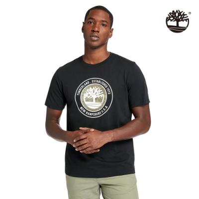 Timberland 男款黑色品牌故事有機棉短袖T恤 A24Y1