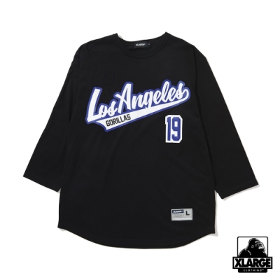 XLARGE BASEBALL H/S TEE短袖T恤-黑