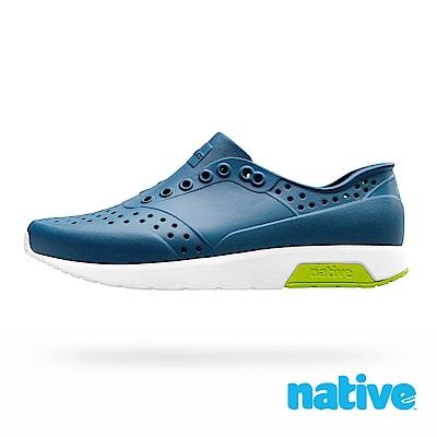 native LENNOX 男/女鞋-鈷藍色x貝殼白x青草綠