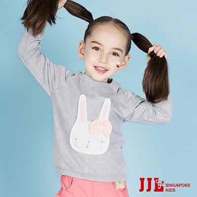 JJLKIDS 棉花兔立體造型長袖上衣(麻灰)