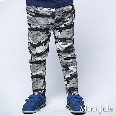 Mini Jule 褲子 滿版迷彩前後雙口袋長褲(黑)