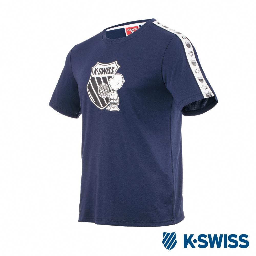K-SWISS Tape T-Shirt SNOOPY聯名短袖T恤-男女-深藍