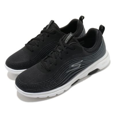 Skechers 休閒鞋 Go Walk 5 Exotic 健走 女鞋 穩定 支撐 避震 緩衝 透氣 回彈 黑 白 124009BKW