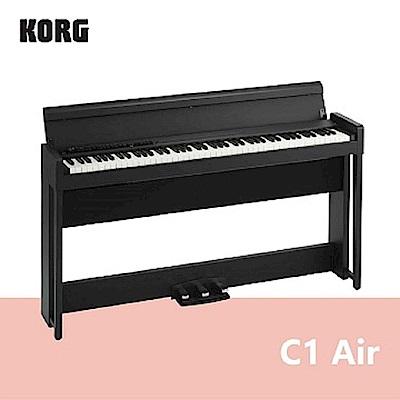 【KORG】C1 Air / 新一代日製88鍵掀蓋式電鋼琴 黑色款 / 公司貨保固