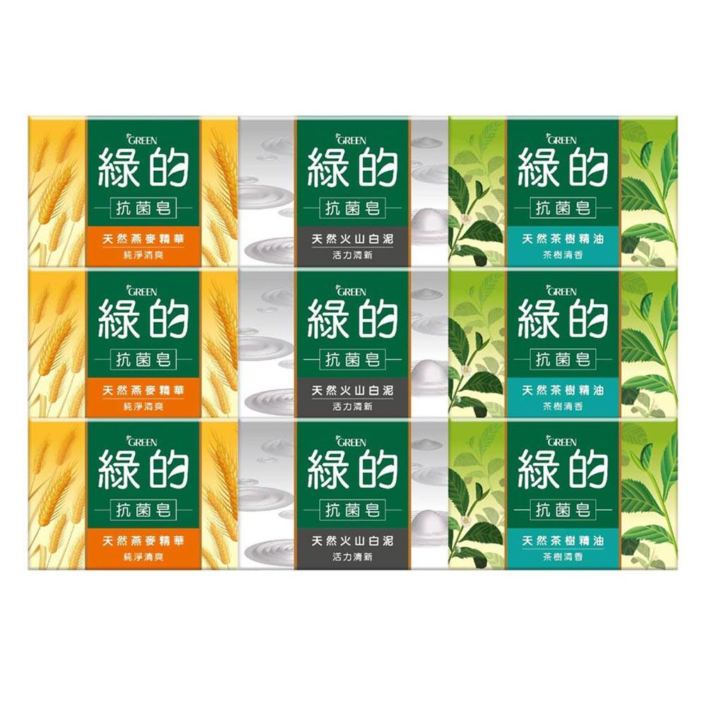 [時時樂限定] 綠的GREEN 抗菌皂 100g*3入組(茶樹清香/純淨清爽/活力清新)